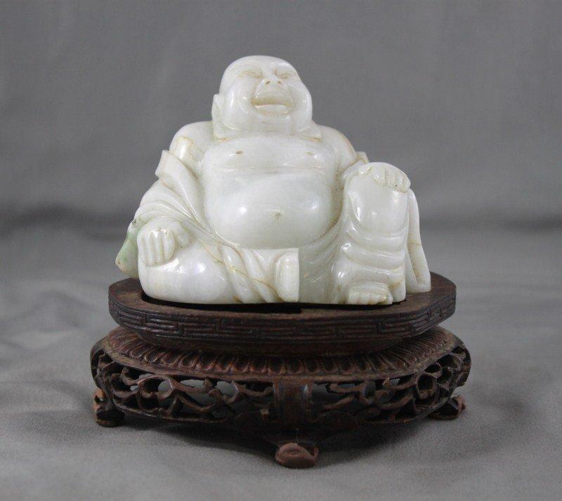 Chinese White Jade Laughing Buddha,