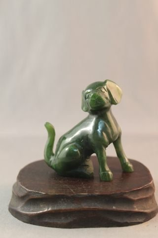 Chinese Jade Carving of Dog,
