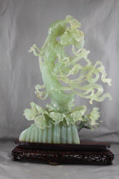 Chinese Serpentine Figure of Kwan Yin,