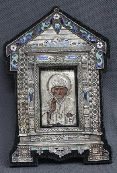Good Russian Silver and Enamel House