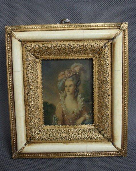 Good Painted Portrait Miniature,