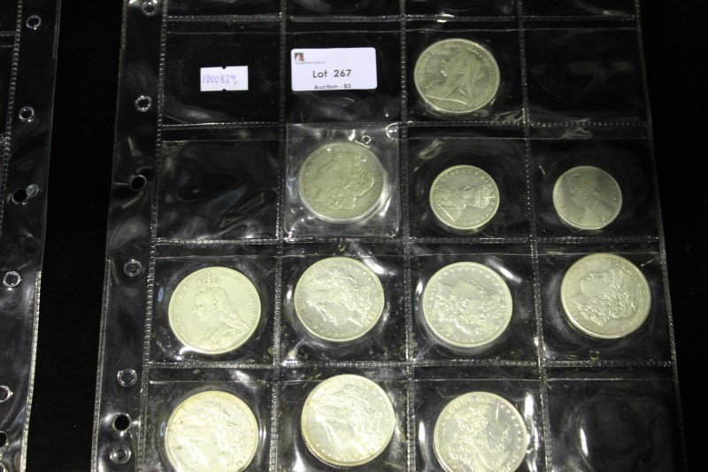 Eleven Various Silver Coins,