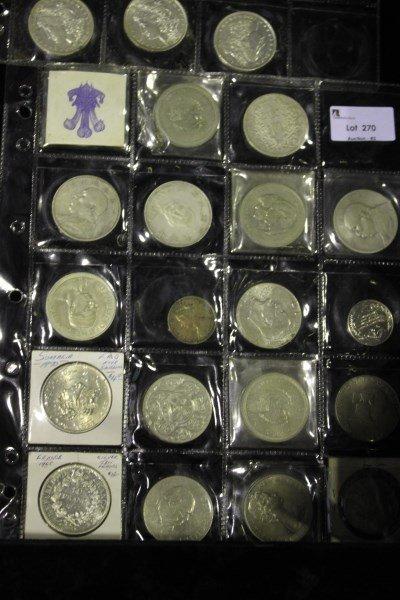 Nineteen Various Coins,
