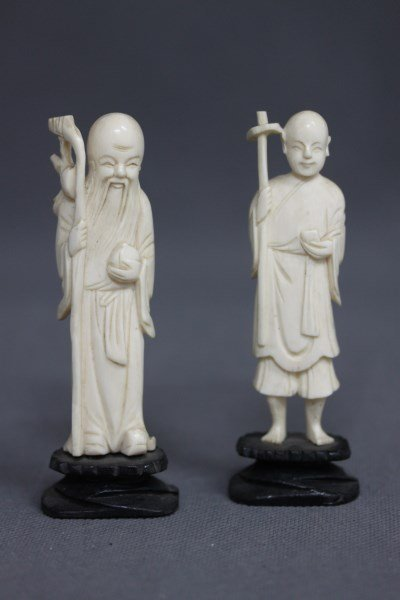 Pair of Chinese Ivory Figures,