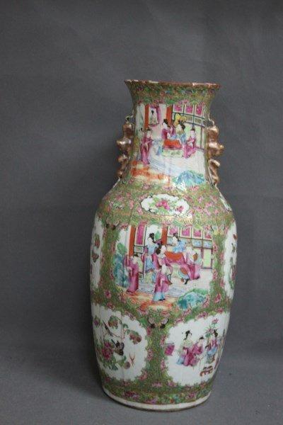 Large Chinese Famille Vert Vase,