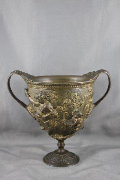 Victorian Twin Handled  Gilt Urn,