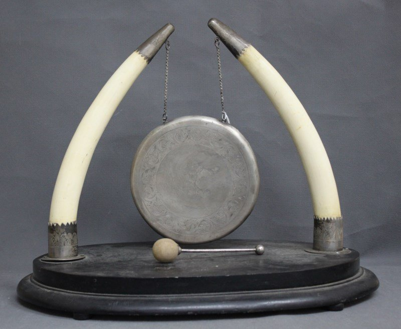 Wonderful Early 20th Century Indian Ivory & Silver Gong