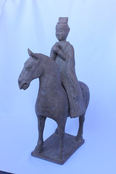 Chinese Six Dynasties, (220-589) Pottery Horse and