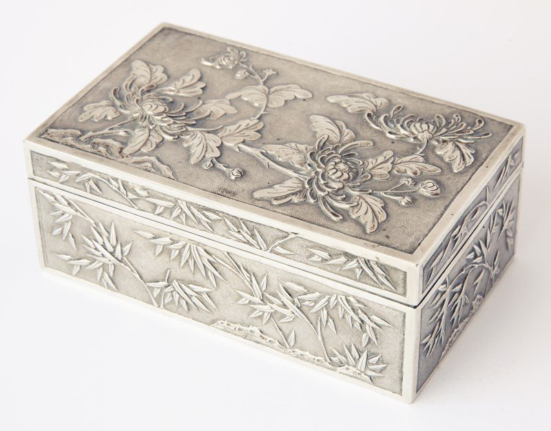 Chinese Late Qing Dynasty, Export Silver Box and