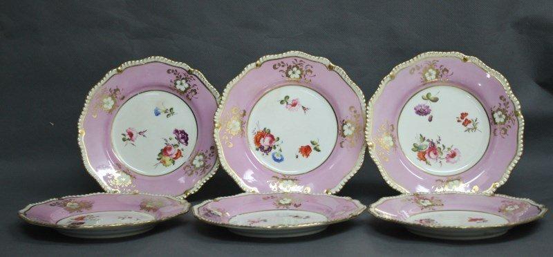 Six 19th Century Daniel Ware Plates, 1822-1846