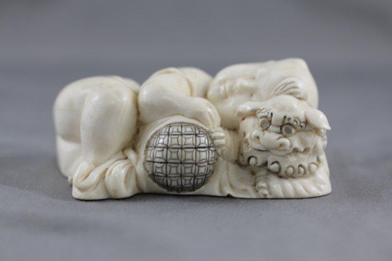 Beautiful Chinese Ivory Figure Group,
