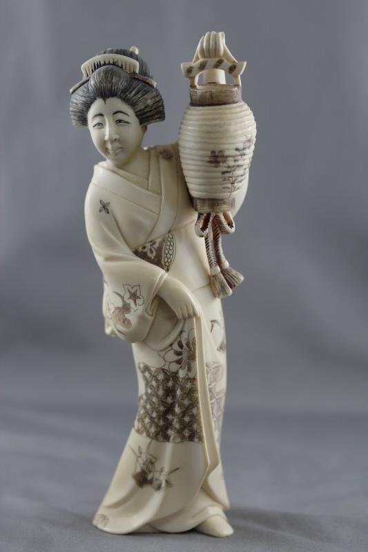 Japanese Ivory Geisha,