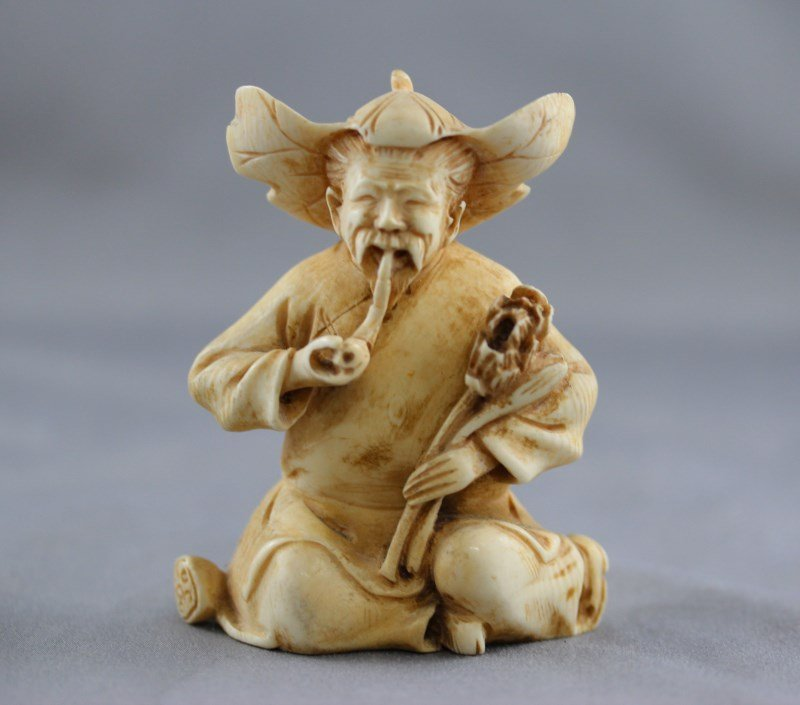 Chinese Carved Ivory Figure,