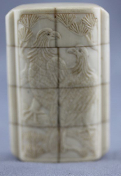,Chinese Late 19th Century Carved Ivory Inro,