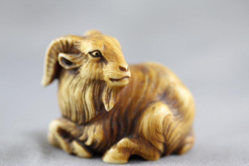 Well Carved Ivory Netsuke,