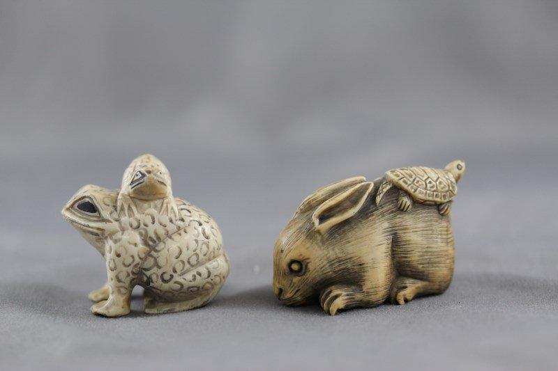 Two Ivory Netsuke,