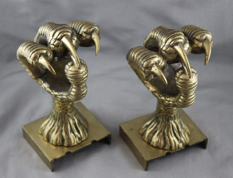 Magnificent Pair of Gilt Bronze Bookends,