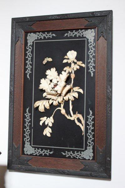 Pair of Japanese Ivory Panels,