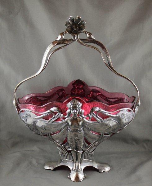Good WMF Art Nouveau Pedestal Dish,