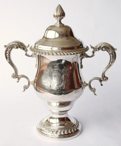 Fine and Rare George III Sterling Silver Twin