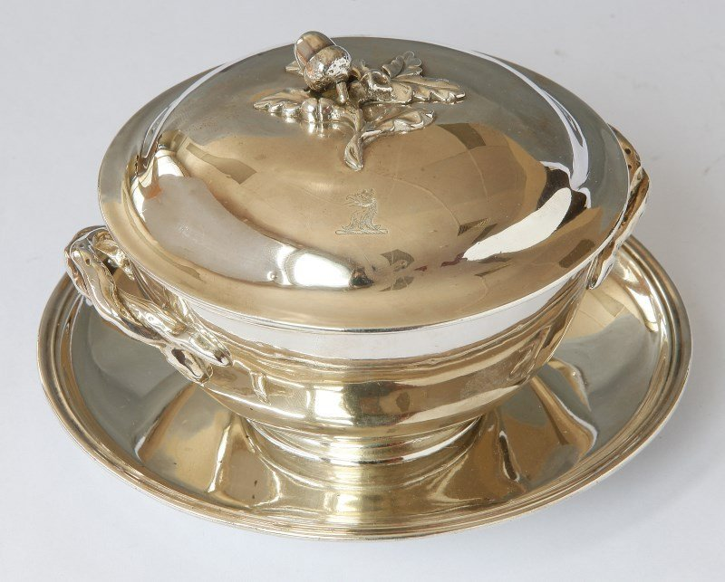 George III Clauseal Covered Bowl, Cover and
