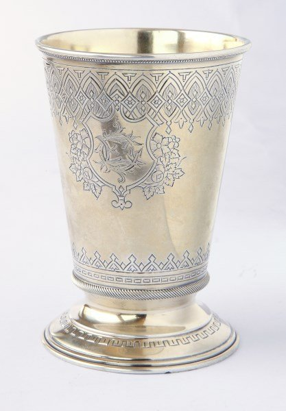 Russian 19th Century Silver Gilded Beaker, c.1887