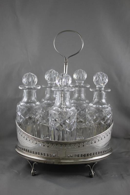 George III Sterling Silver Cruet Set,