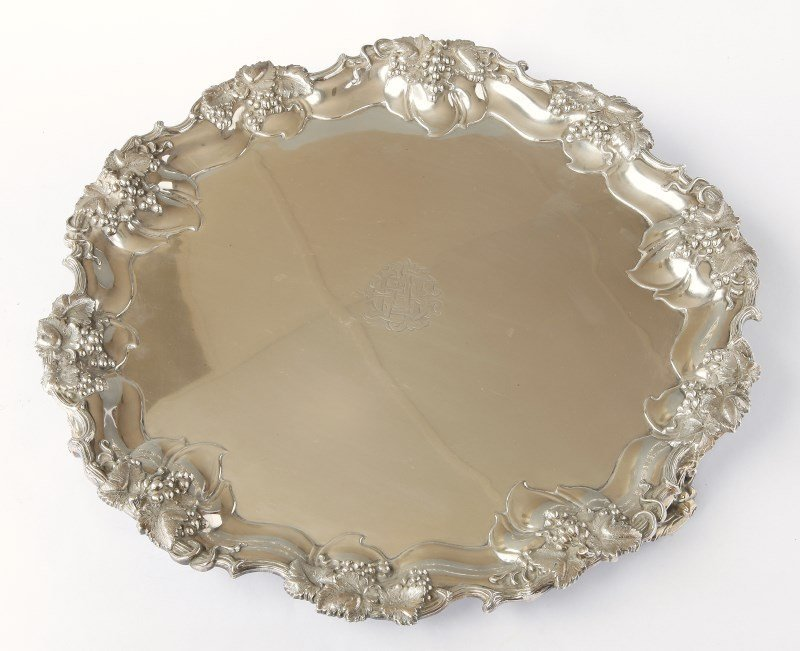 Good George V Sterling Silver Footed Salver,