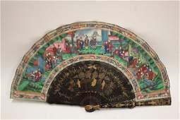 Good Chinese Qing Dynasty, 19th Century Fan,