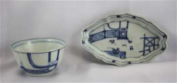 Chinese Qing Dynasty 18th Century Blue and White