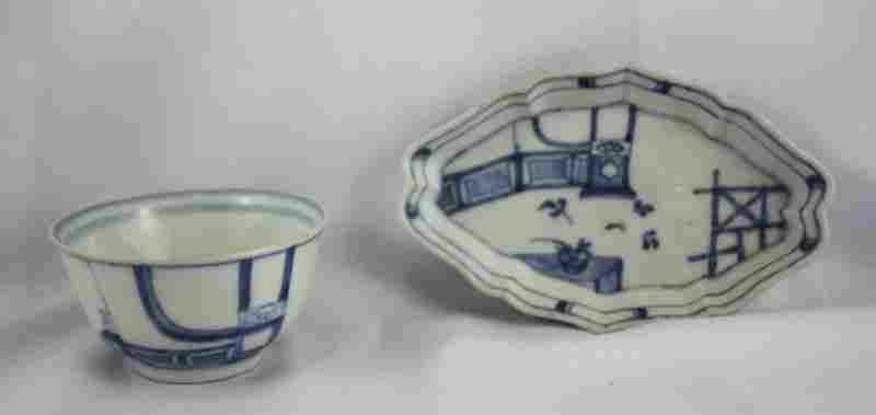 Chinese Qing Dynasty, 18th Century Blue and White