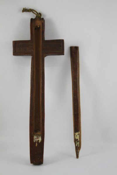 18th Century Carved Wooden Cross of Jesus and - 4