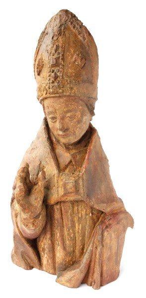 Rare 15th Century Bishop Torso,
