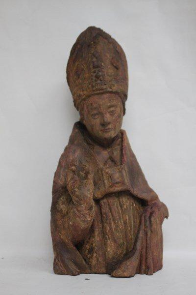 Rare 15th Century Bishop Torso, - 2