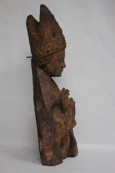 Rare 15th Century Bishop Torso, - 5