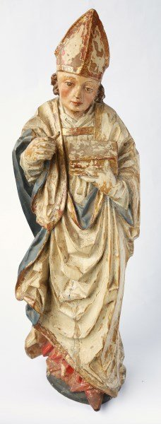 Rare German Gothic 16th Century Figure of Bishop,