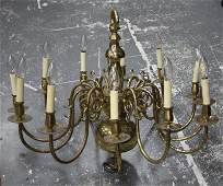 Dutch Style Twelve Branch Brass Chandelier,