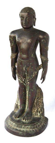 Bronze Figure of Jain Siddha Bahubali,