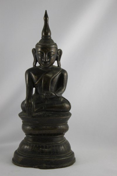 Good Burmese 18th Century Bronze Buddha Shan,