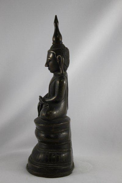 Good Burmese 18th Century Bronze Buddha Shan, - 2