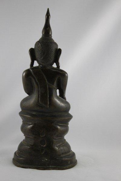 Good Burmese 18th Century Bronze Buddha Shan, - 3