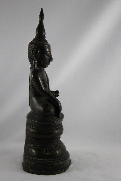 Good Burmese 18th Century Bronze Buddha Shan, - 4