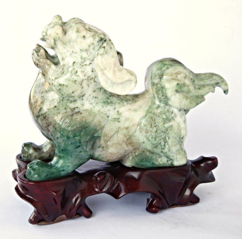 Chinese Carved Aventurine Kylin,