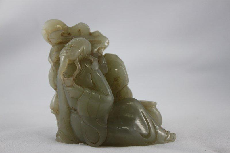 Good Chinese Celadon Jade Figure,