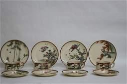 Twelve Piece Japanese Porcelain Tea Set,