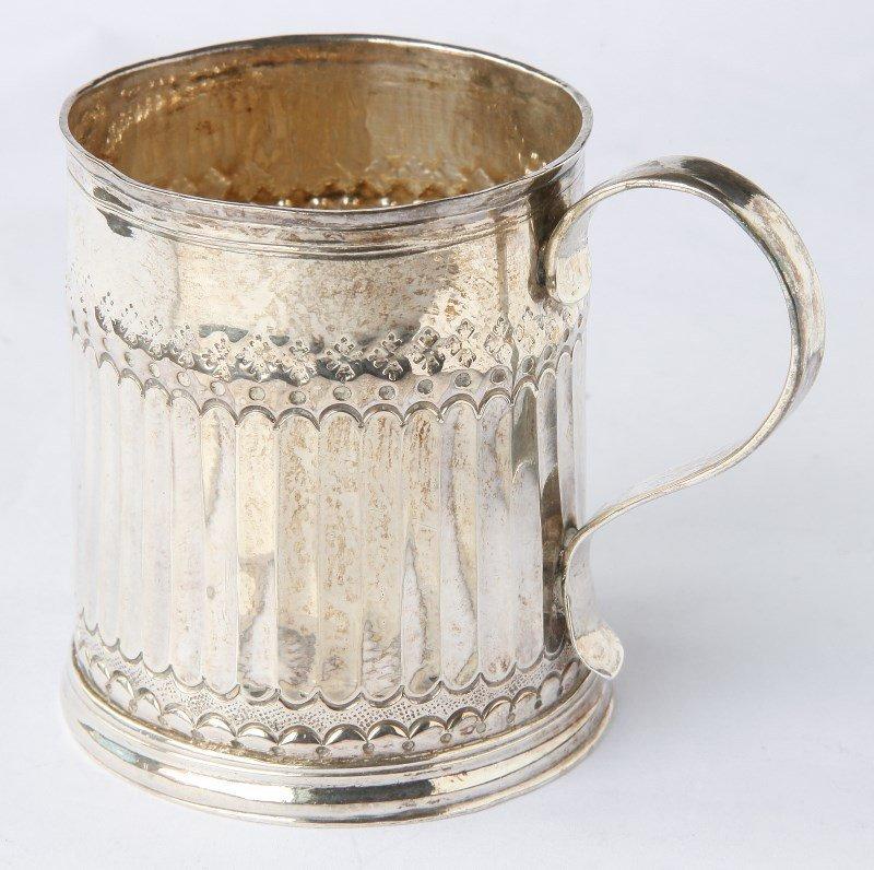 Rare Queen Ann Britannia Silver Mug,