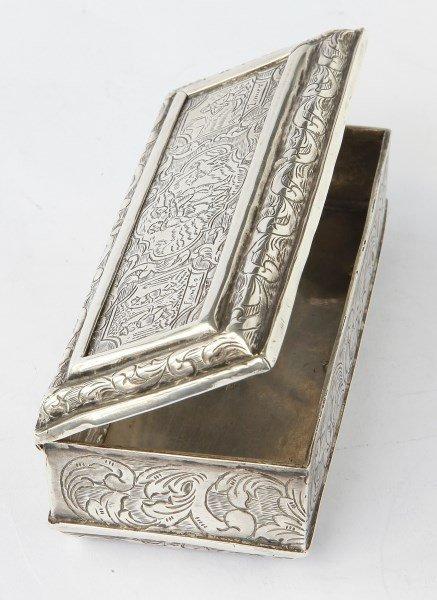 "Dutch ""Four Seasons"" Silver Tobacco Box, c.1720,"