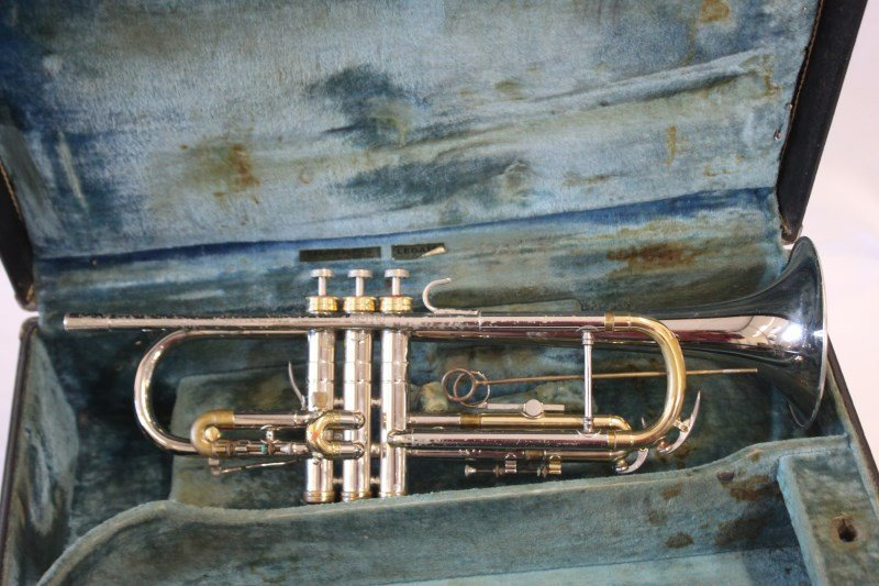Nickle Plated Trumpet by Conn,