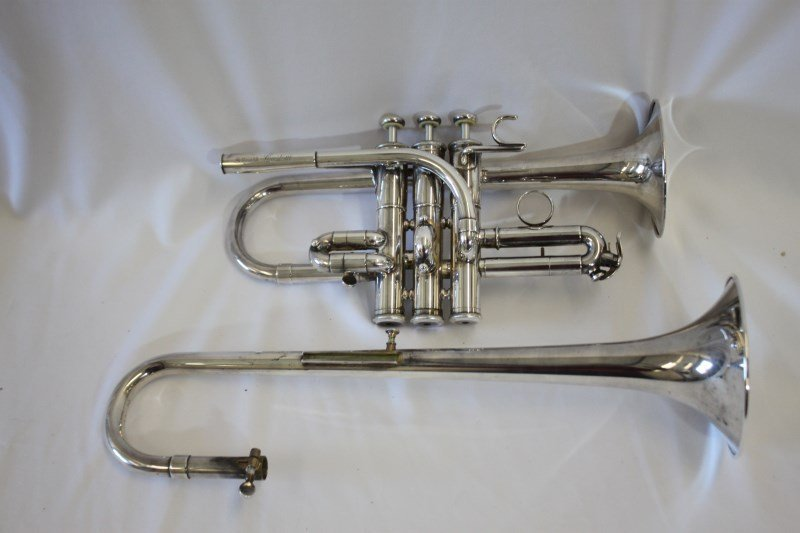 Silver Plated Piccolo Trumpet by Yamaha,