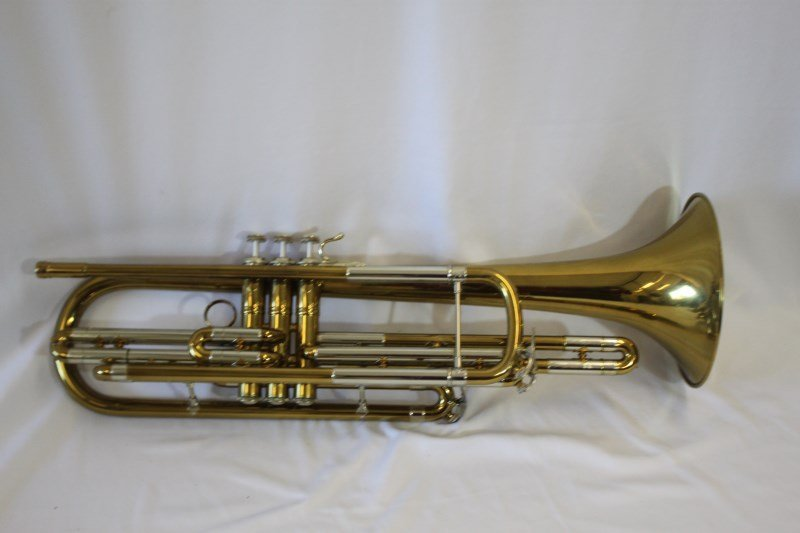 Gold Lacquered Bass Tenor Trumpet by Bach,